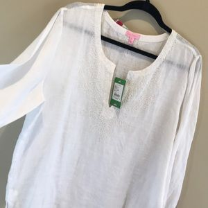 Lilly Pulitzer Amelia Island Tunic 🌴 NWT linen